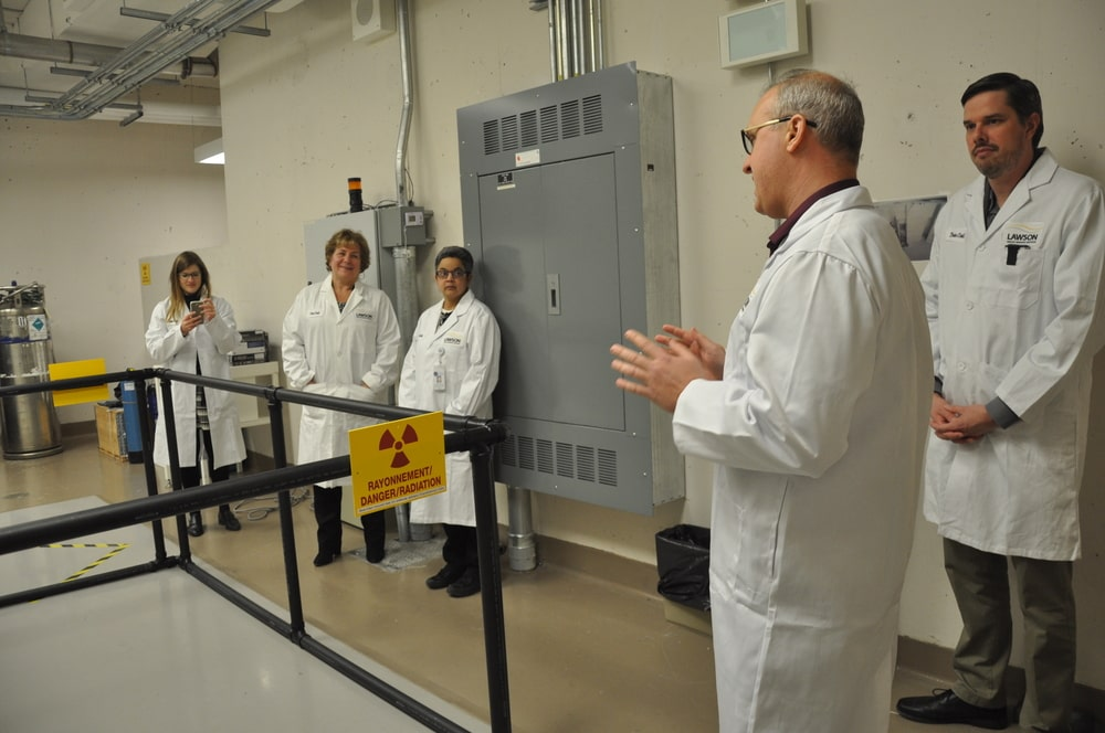 Dr. Mike Kovacs explains how the cyclotron works